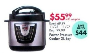 Power Pressure Cooker XL 6qt. With Coupon