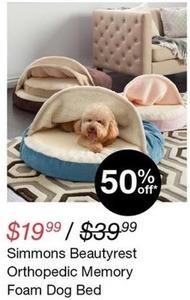 Simmons Beautyrest Orthopedic Memory Foam Dog Bed