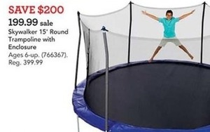 Skywalker Trampolines 15 foot Round Trampoline with Enclosure