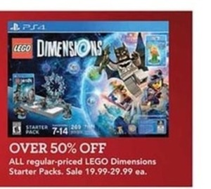 All Regular Priced Lego Dimensions Starter Packs