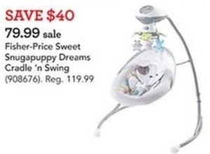 Fisher Price Sweet Snugapuppy Dreams Cradle 'N Swing
