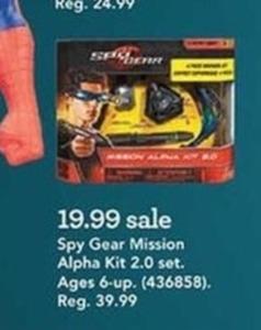 Spy Gear Mission Alpha Kit 2.0 Set Spy Gear Mission Alpha Kit 2.0 Set