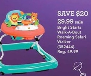 Bright Starts Walk-A-Bout Roaming Safari Walker