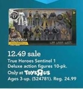True Heroes Sentinel 1 Deluxe Action Figures - 10 Pack