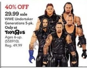 WWE Undertaker Generations 5-pk