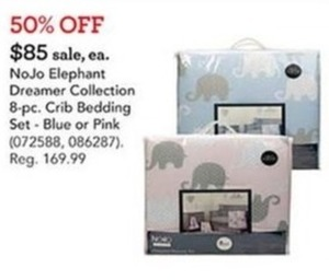 NoJo Elephant Dreamer Collection 8-pc. Crib Bedding