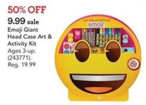 Emoji Giant Head Case Art & Activity Kit