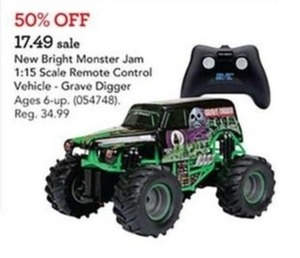 New Bright Monster Jam 1:15 Scale Remote Control Vehicle