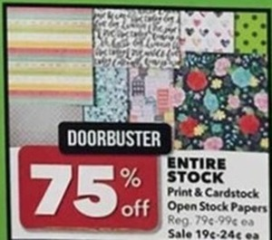 Print and Cardstock Open Stock Papers