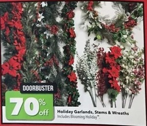 Holiday Garlands Stems Wreaths
