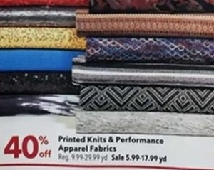 Printed Knits & Performance Apparel Fabrics