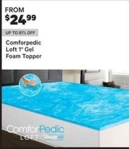 "Comforpedic Loft 1"" Gel Foam Topper"
