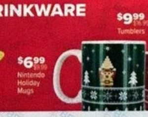 Nintendo Holiday Mugs