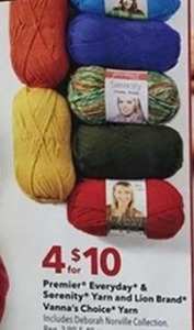 Premier Everyday Serenity Yarn And Lion Brand Vanna's Choice Yarn