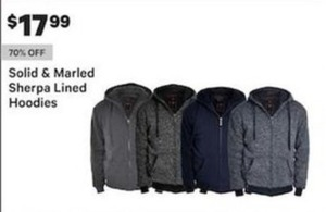 Solid and Marled Sherpa Lined Hoodies
