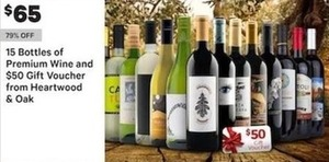 15 Bottles Of Premium Wine And $50 Gift Voucher From Heartwood Oak