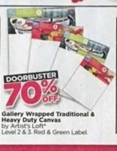 Gallery Wrapped Traditional and Heavy Duty Canvas