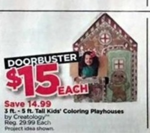 3-5 Foot Tall Kids' Coloring Playhouses