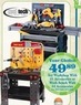 Mills Fleet Farm Tool Tech Toy Work Bench w/ 54 Accessories