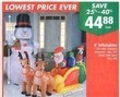 Big Lots 8' Inflatable Santa w/ Sleigh