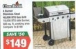 Big Lots Char-Broil 4 Burner Stainless Steel Gas Grill