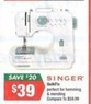 Big Lots Singer QuickFix Sewing Machine