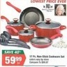 Big Lots Paula Deen 17 Piece Non-Stick Cookware Set