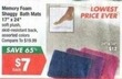 Big Lots Memory Foam Shaggy Bath Mats