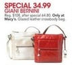 Macys Giani Bernini Glazed Leather Crossbody Bag
