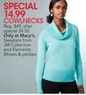 Macys JM Collection Misses Cowlneck Sweaters