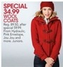 Macys Hydraulic Juniors' Wool Coats