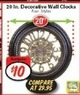 "Fred's 20"" Decorative Wall Clocks"