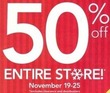 Carter's 50% Off Entire Store