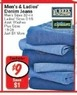 Fred's Men's Denim Jeans 32-44 Asst. Washes