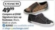 AAFES Coach Women's Signature Lace-Up Footwear