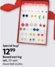 AAFES 20 Pair Boxed Earring Set - Assorted Styles
