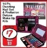 Fred's 16pc Dazzling Nail Set & Profusion Deluxe Make Up Kits