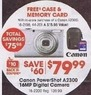 Radio Shack Canon PowerShot A2300 16MP Digital Camera + Case & SD Card