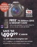 Radio Shack Canon Rebel T3 12.2MP SLR 18-55mm, 75-300mm Lens & SD Card