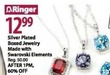 Bealls Silver Plated Boxed Jewelry Made with Swarovski Elements