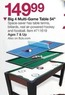BJs Toy Catalog Big 4 Multi-Game Table