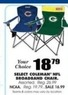 Blain's Farm and Fleet Assorted Coleman NFL Broadband Chair