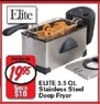 Fred's Elite 3.5 Qt. Stainless Steel Deep Fryer