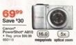Staples Canon PowerShot A810 16MP Digital Camera + 8GB SD Card