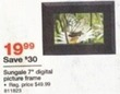 "Staples Sungale 7"" Digital Picture Frame"