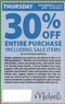 Michaels Michael's In-Store Coupon - Thursday