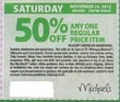 Michaels Any 1 Regular Price Item - Saturday