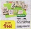 Michaels Buy One Get One Free Rubber, Clear and Cling Stamps