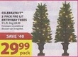 Michaels Celebrate It Pre-Lit EntryWay Trees 2-Pack