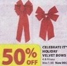 Michaels Celebrate It Holiday Velvet Bows